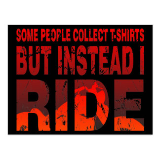Ride not Collect Postcard