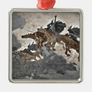Ride of the Valkyries Silver-Colored Square Ornament