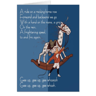 Ride on a Rocking Horse Greeting Card