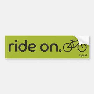 Ride On™ Hybrid Bumper Sticker