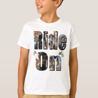 Ride On, Motorbike Picture Logo, T-Shirt