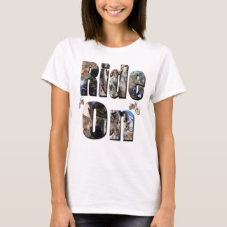 Ride On, Motorbike Picture Logo, T-Shirt