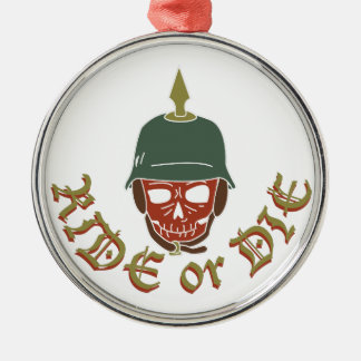 Ride Or Die Pickelhaube Silver-Colored Round Ornament