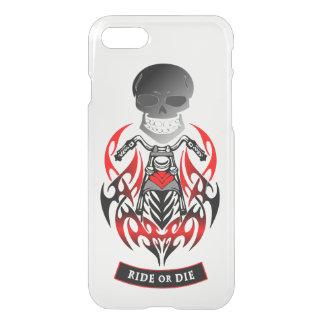 Ride or Die Tribal Motorcycle Biker Patch iPhone 8/7 Case