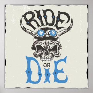 Ride or Die Wallart Poster