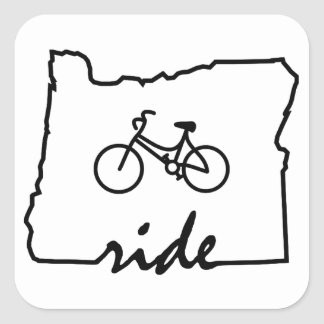 Ride Oregon (Cycling) Square Sticker