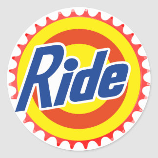 Ride (Parody) Classic Round Sticker
