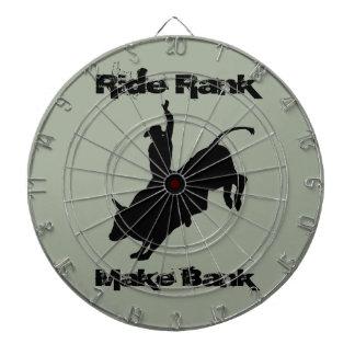 Ride Rank Bull Riding Rodeo Cowboy Up Dartboard