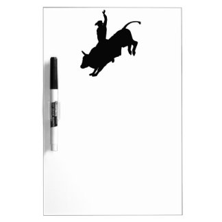 Ride Rank Bull Riding Rodeo Cowboy Up Dry Erase Whiteboards