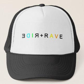 RIDE+RAVE MIRRORED TRUCKER HAT