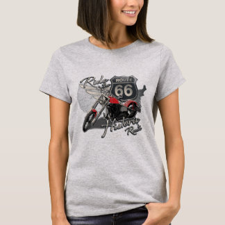 Ride Route 66, Vintage Motorcycle T-Shirt