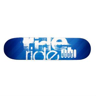 Ride; Royal Blue Stripes Skate Board Decks