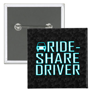 Ride Share Driver Rideshare Driving 2 Inch Square Button