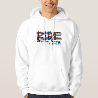 Ride Steamboat Springs Colorado snowboard hoodie