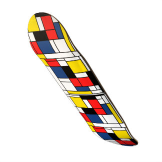 Ride the Art Wave where ever you go. Custom Skateboard