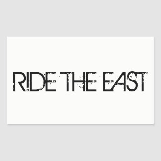 Ride The East Sticker