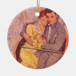 Ride the Rollercoaster Double-Sided Ceramic Round Christmas Ornament