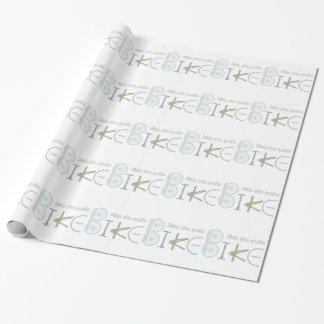 Ride the Trails Bike Graffiti Sport Quote Wrapping Paper