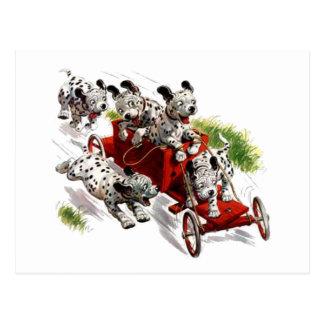 ride the wagon postcard