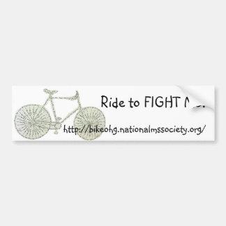 Ride to FIGHT MS! Bumper Sticker
