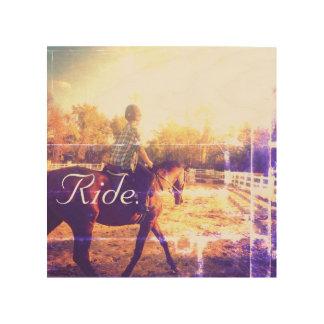 Ride. Wall Art Wood Canvas