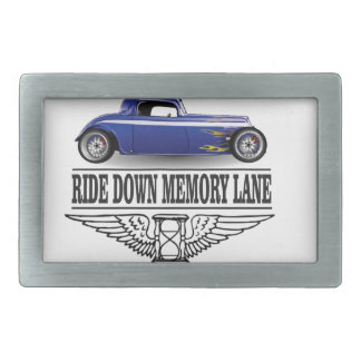 ride with pride blue rectangular belt buckles