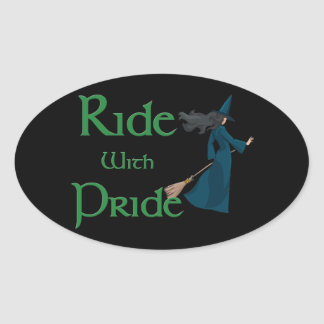 Ride with Pride Oval Sticker