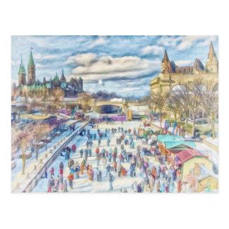 Rideau Canal Ottawa Canada Postcard
