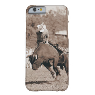 Rider about to fall off bucking bull barely there iPhone 6 case