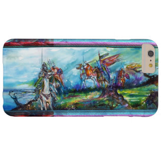 RIDERS IN THE STORM Medieval Knights Blue Barely There iPhone 6 Plus Case