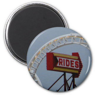 Rides and Roller Coaster 2 Inch Round Magnet