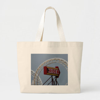 Rides and Roller Coaster Large Tote Bag