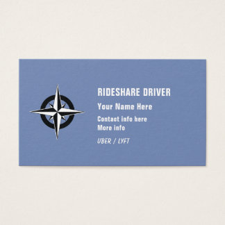 Rideshare Driver Business Card