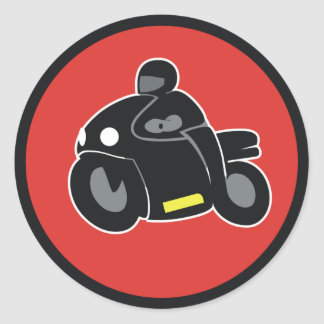 RideWith Classic Round Sticker