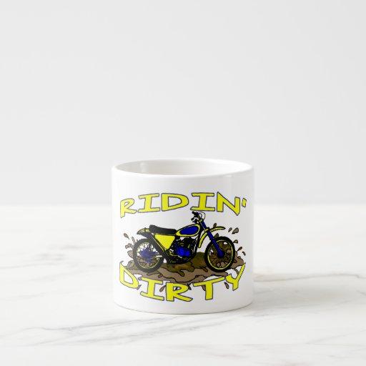Ridin Dirty Dirt Bike In Mud Espresso Cups