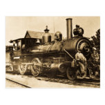 Ridin' that Train Vintage Railroad Postcard