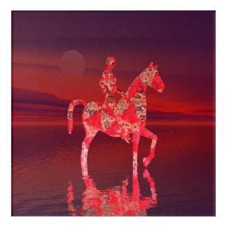 Riding at Dusk Acrylic Print