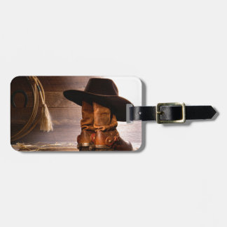 Riding Boots and Cowboy Hat Luggage Tag