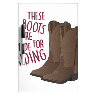 Riding Boots Dry Erase Boards