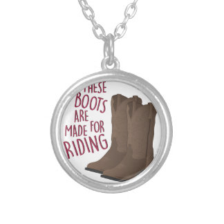 Riding Boots Silver Plated Necklace