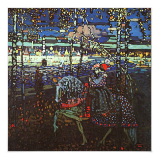 Riding Couple by Wassily Kandinsky 1907 Card
