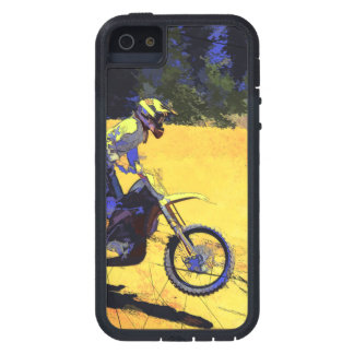 Riding Hard! - Motocross Racer iPhone 5 Covers