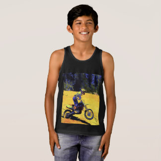 Riding Hard! - Motocross Racer Tank Top