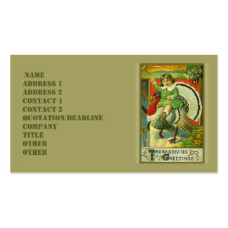 Riding High Thanksgiving Business Card Template