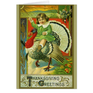 Riding High Thanksgiving Greeting Card