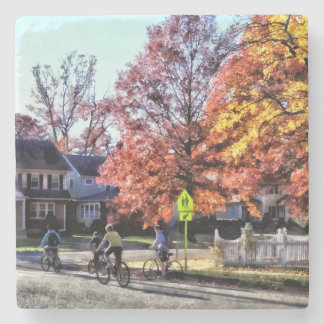 Riding Home From School Stone Coaster
