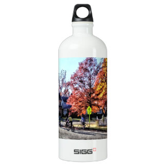 Riding Home From School Water Bottle