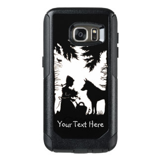 Riding Hood in Woods Wolf Holding Flowers OtterBox Samsung Galaxy S7 Case