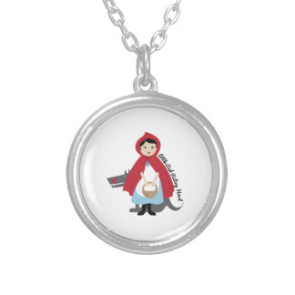 Riding Hood Silver Plated Necklace