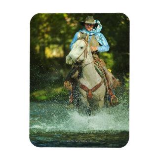 Riding horse through water magnet